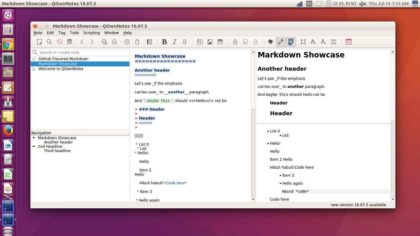 QOwnNotes - Plain Text File Editor and todo-manager - Available As