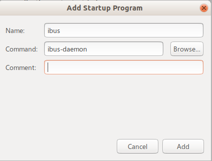 Add ibus-daemon in Startup applications