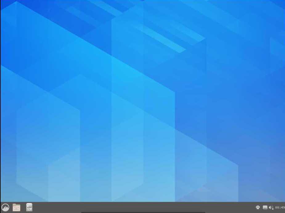 Cinnamon Desktop in Arch (Before Configuration)