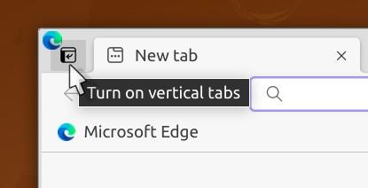 Turn on Vertical Tabs