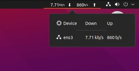 Netspeed Extension in GNOME